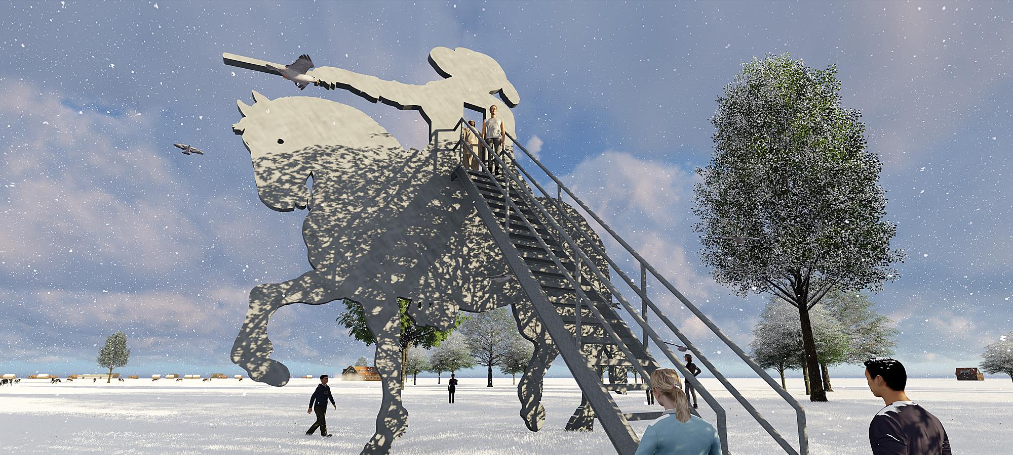 Public Art sculpture-Den Dungen Netherlands-design BlokLugthart