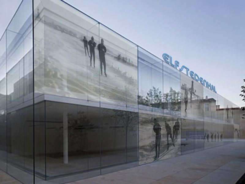 Public Art sculpture-Ice Skating stadium Netherlands-BlokLugthart
