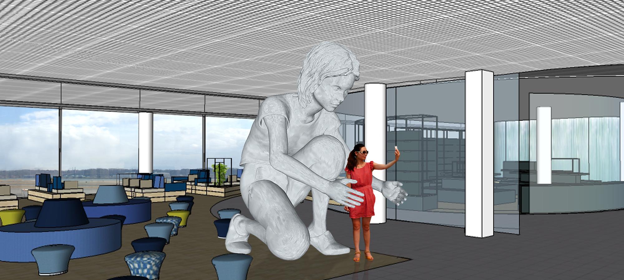 Public Art sculpture -Airport Schiphol-BlokLugthart
