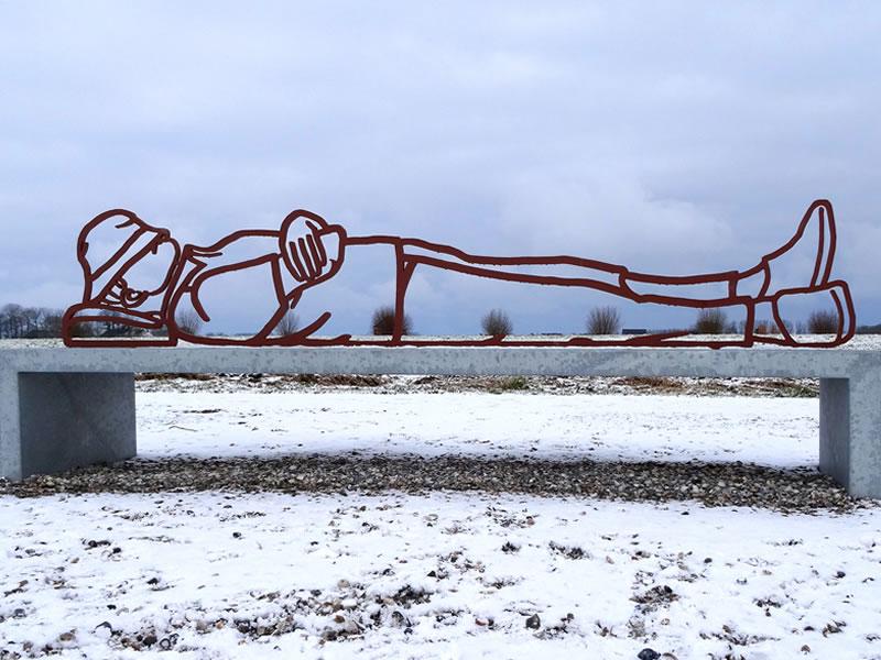 Public Art sculpture Great Friends-Airport Schiphol-BlokLugthart