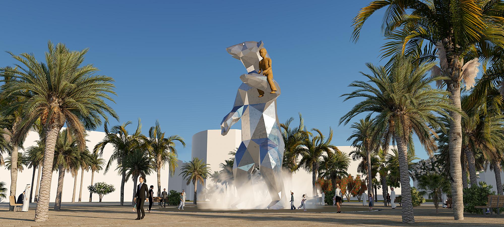 PUBLIC ART, Abu Dhabi, BlokLugthart