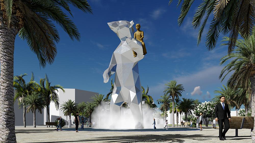 Public Art Abu Dhabi, BlokLugthart,