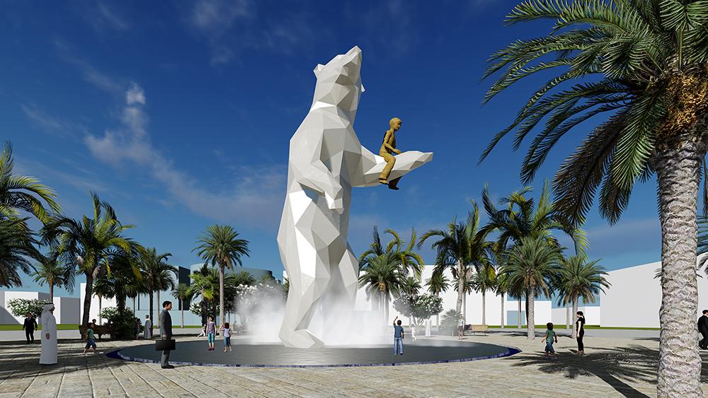 Public Art Abu Dhabi, BlokLugthart