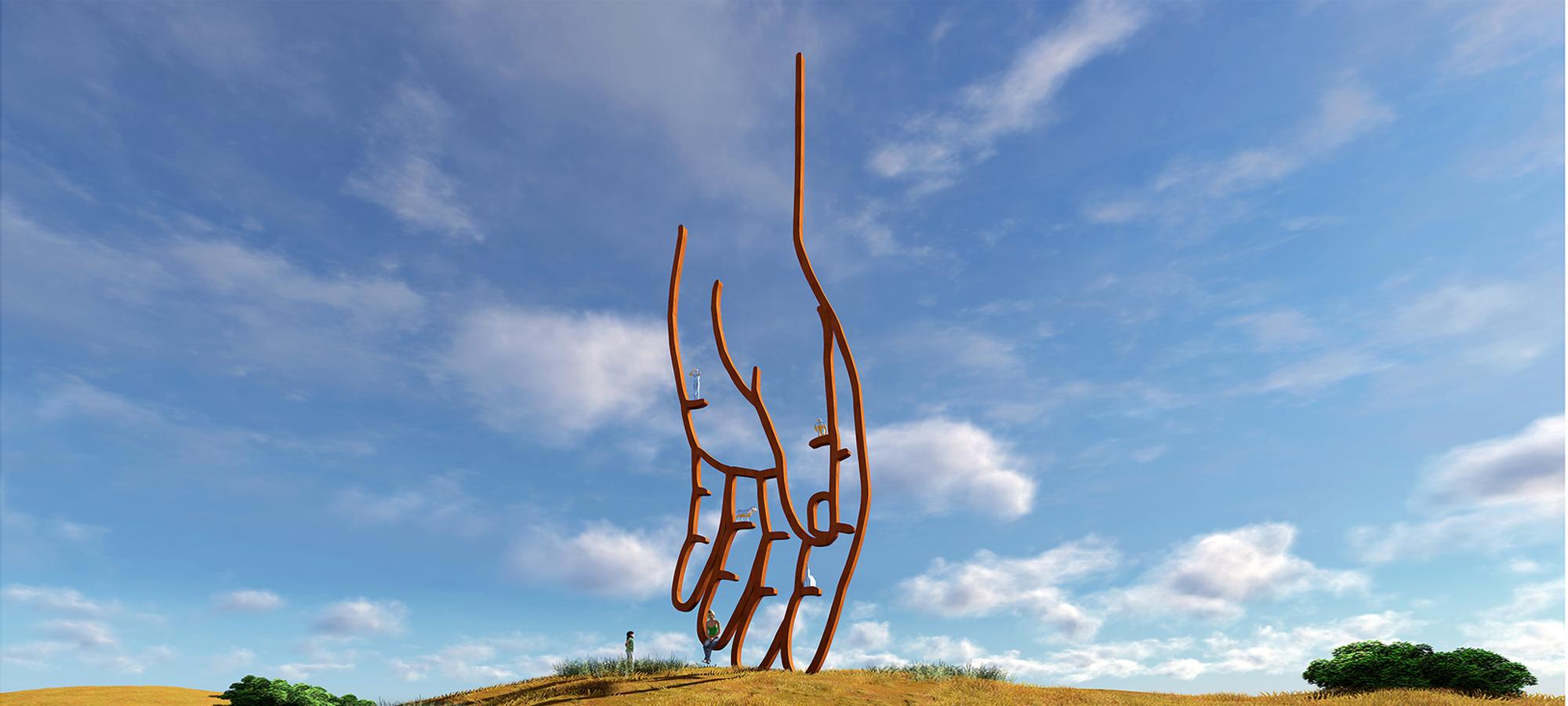 Public Art Texel, sculpture BlokLugthart